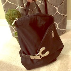Renato Angi Venezia Nylon & Leather Backpack